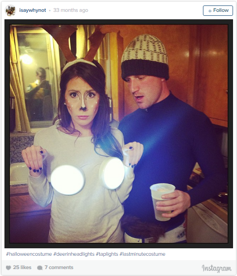 27. Round touch lights from any hardware store and paper antlers and you are…