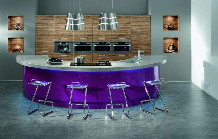 ▷ 1001 + ideas de decoración de cocina americana | Sillas de metal ...