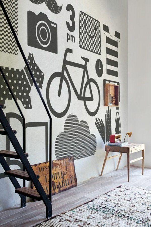 Wandgestaltung Mit Farbe Wand Streichen Ideen Muster