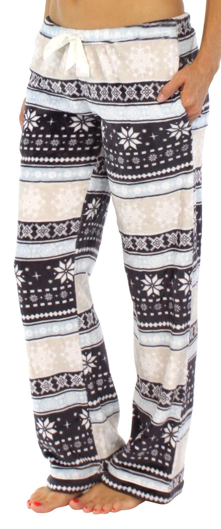 Pajamamania Womens Fleece Pajama Pj Pants  Fleece -5836