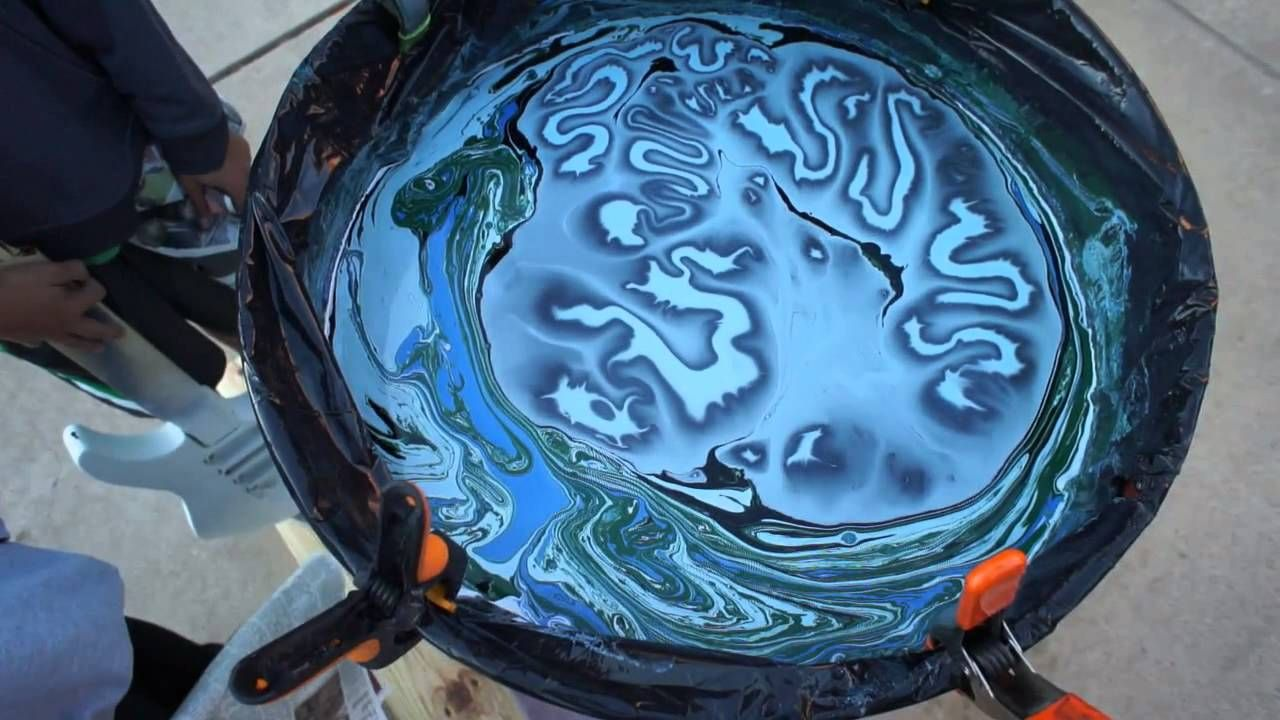 Swirl Painting a Jackson Guitar with Borax Method and Humbrols PART 1. http://youtu.be/0qwBktr_7M0