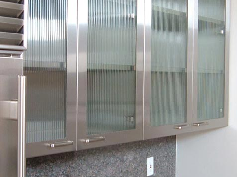 Designer Kitchens Glass Front Cabinets Simplified Bee Steel