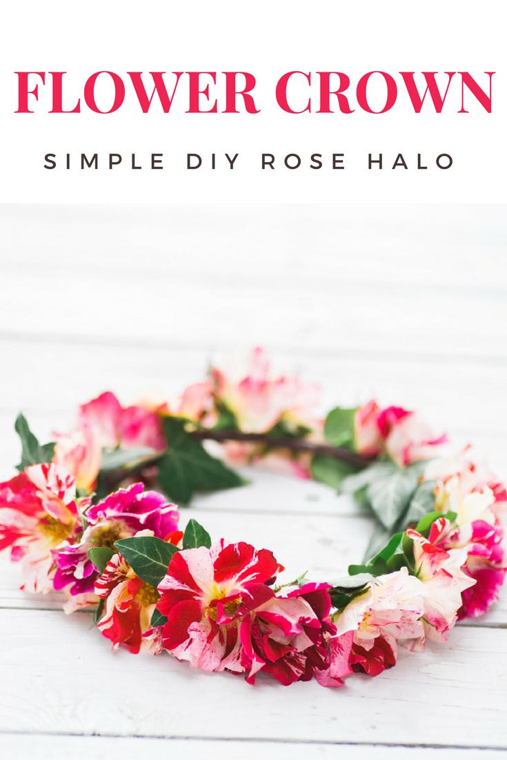 Diy rose flower crown wedding ideas pinterest rose garland diy rose garland izmirmasajfo