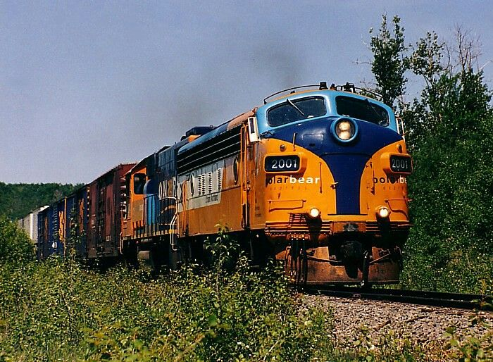 We're at mile 4.5 of the Island Falls Sub as the southbound 622 races past back in July 2002.