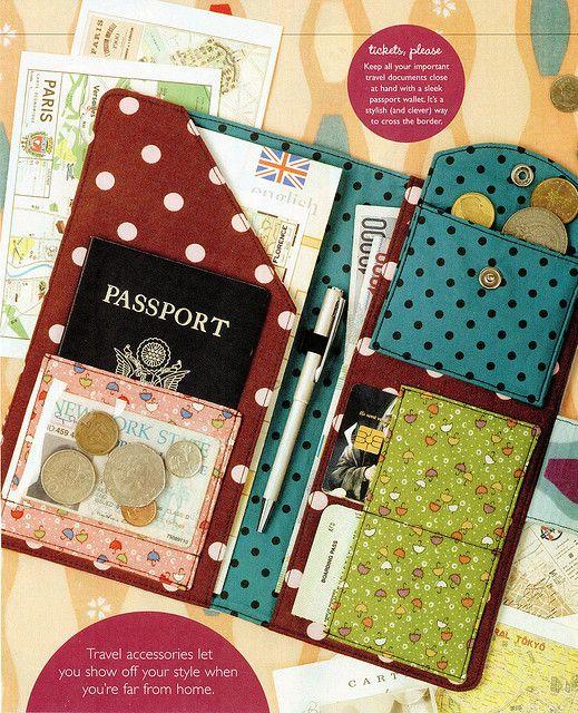 Passport Wallet Adorn Magazine By Glassbeach Via Flickr Link To Pdf