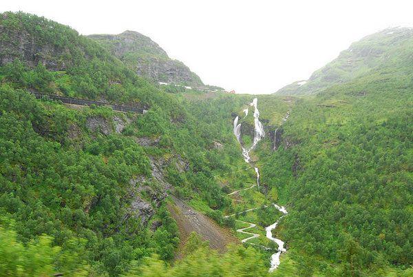 f12ffa491 Saltos de agua desde el Tren de Flåm   para cuidar y conservar ...