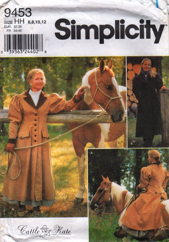 Simplicity 9453 Misses Carriage Buggy Coat Pattern Leg O Mutton ...