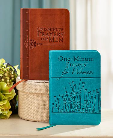 The One-Minute Prayers for Men or Women book is the perfect way to regain focus on a busy day. Experience His peace, grace and joy whenever you need reassurance