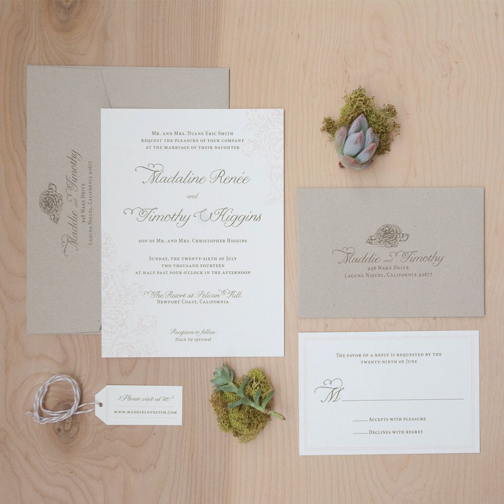 This wedding invitation is a must have for your Rustic Garden ...