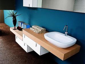 Plan De Travail Dans Une Salle De Bain Déco Apparte Pinterest - Plan sous vasque salle de bain
