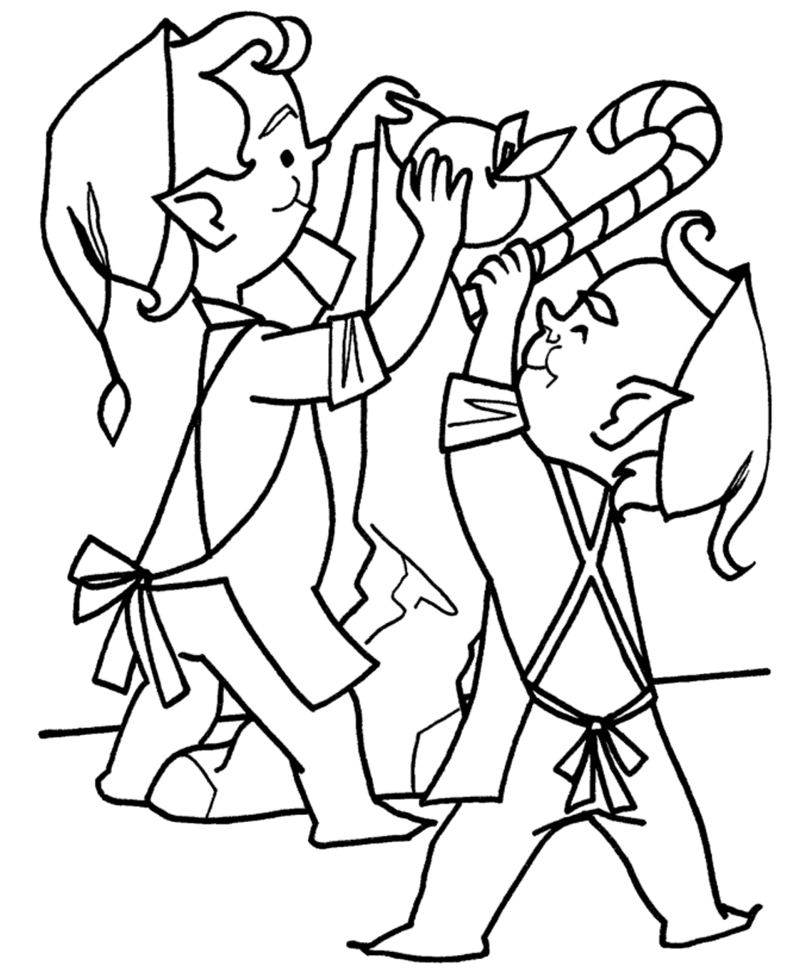 Elves To Insert Food Into The Sack Coloring Pages For Kids Ctr Printable Elves Coloring Pages For Santa Coloring Pages Mermaid Coloring Pages Coloring Pages