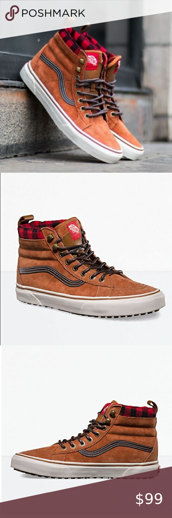 vans sk8 hi mte suede repellent skate shoes nib in 2020 skate shoes elastic laces vans sk8 pinterest
