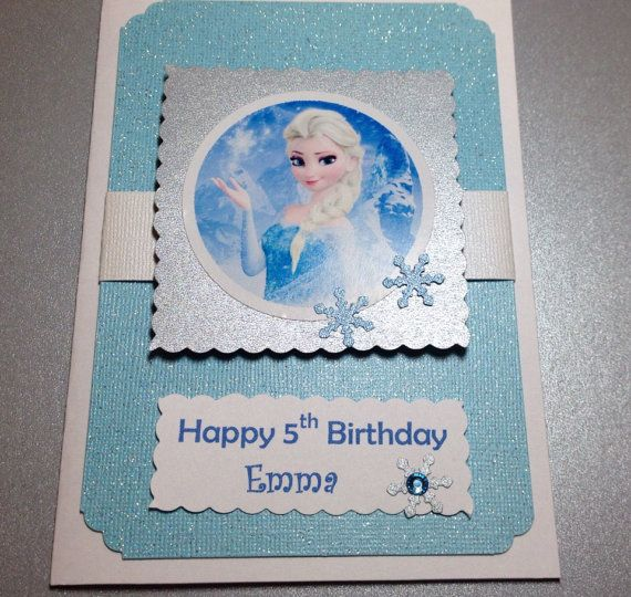 Elsa Birthday Card Free Personalize Frozen Card Disney Etsy Frozen Birthday Cards Kids Birthday Cards Frozen Cards