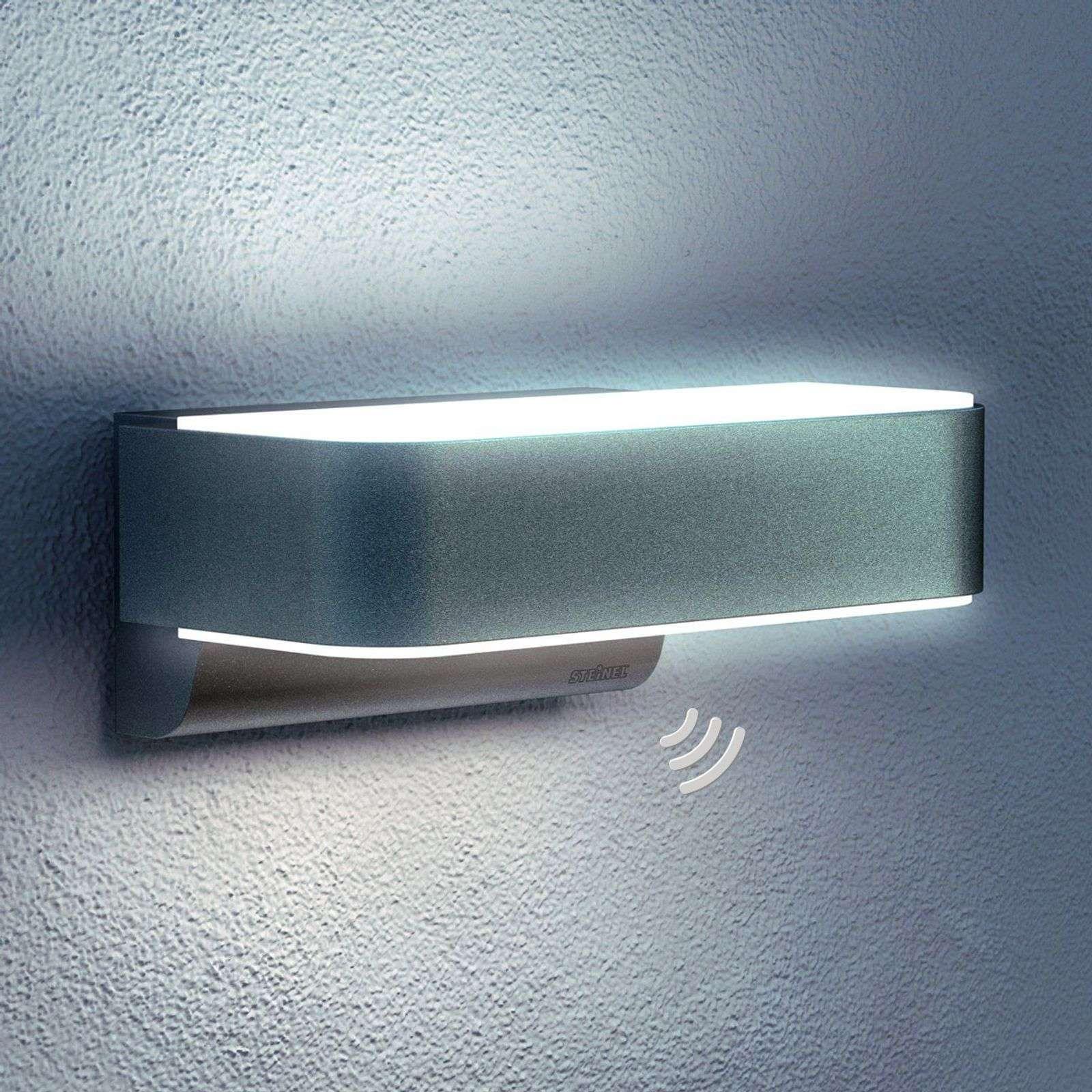 Außenwandleuchte mit Sensor Bewegungsmelder Anthrazit LED Wandlampe Wasserdic