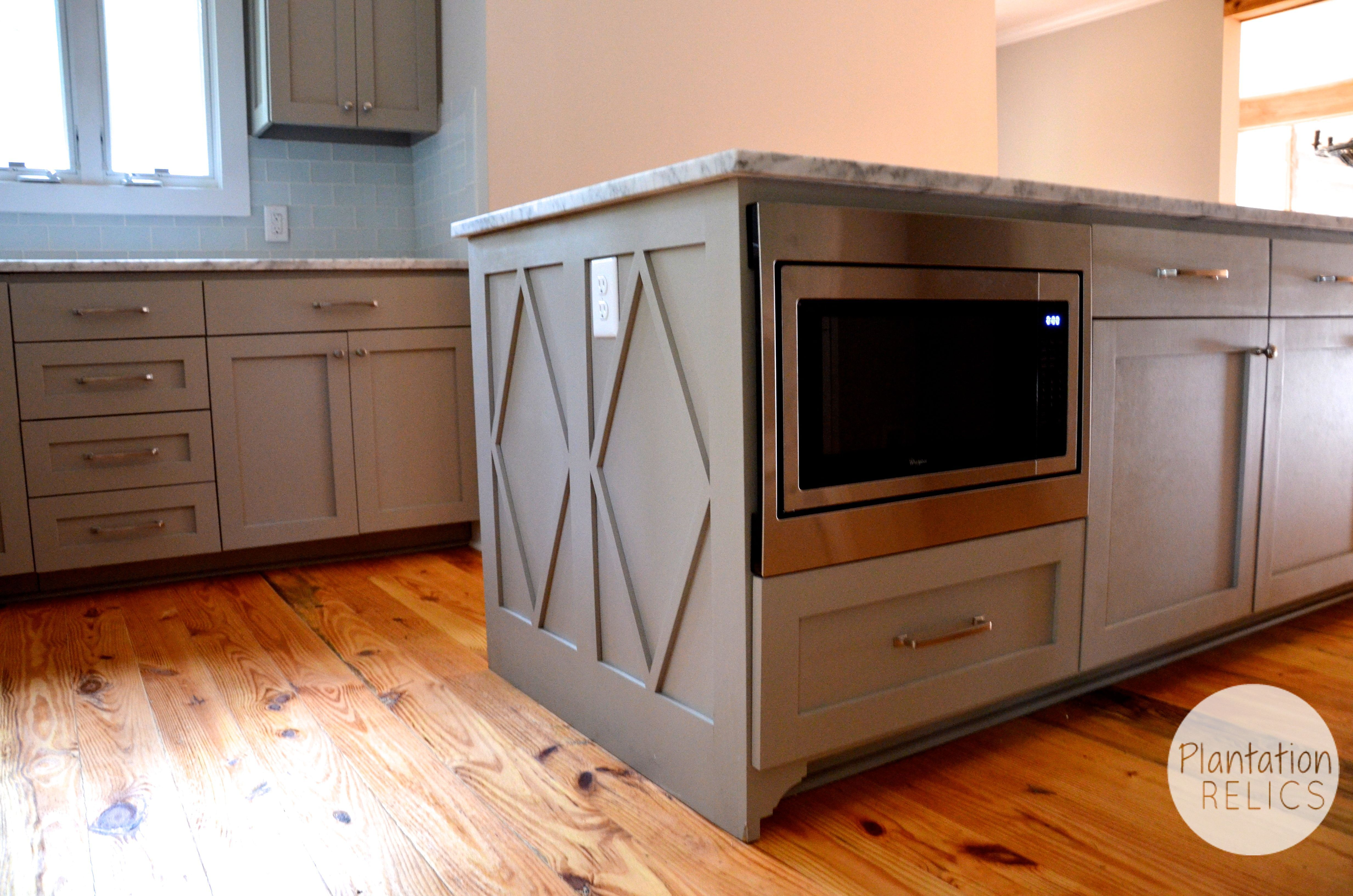 microwave in island | Dragon House | Pinterest | Kitchens and House