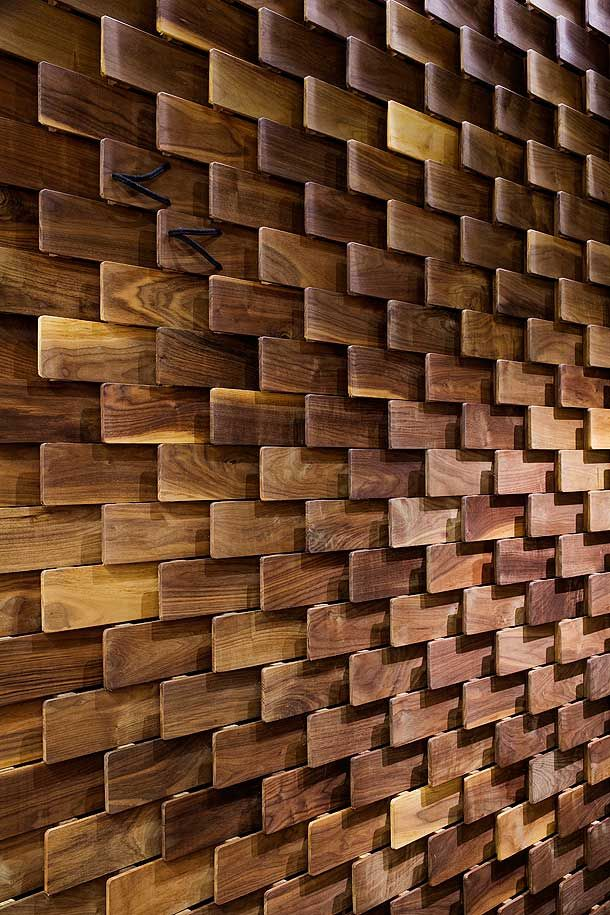 natural wood interiors :: reclaimed / salvaged wood feature wall