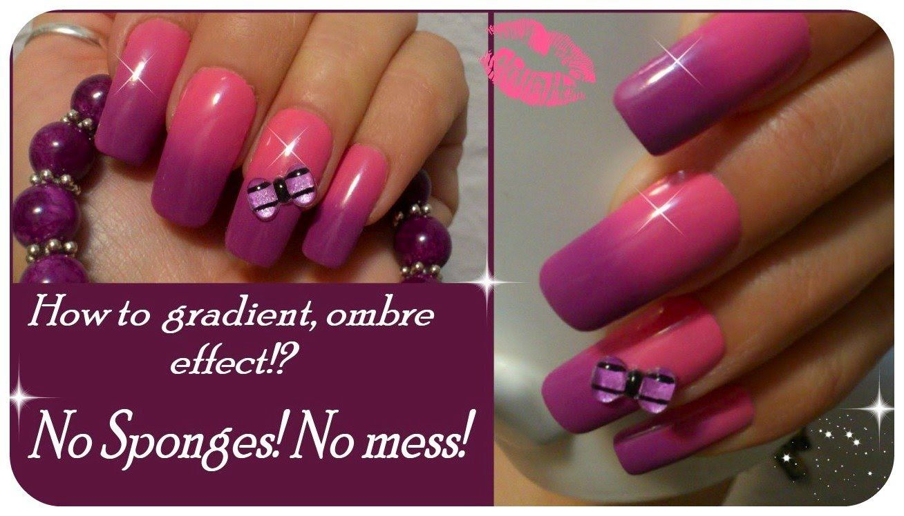 HOW TO OMBRE NAIL ART EFFECT, NO SPONGES, NO MESS! | Re-Pin Nail ...