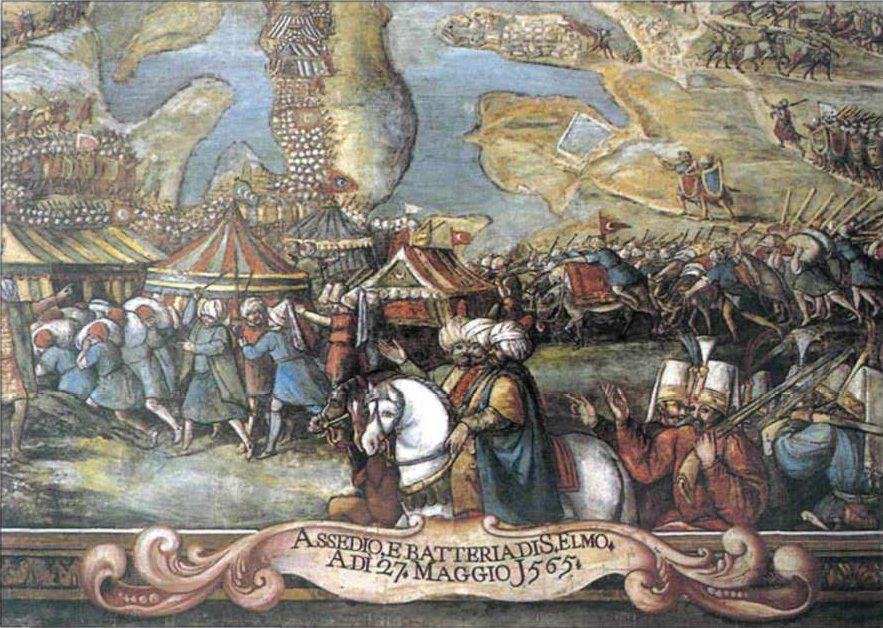 Ottomans Approach Fort St Elmo During The Siege Of Malta 1565