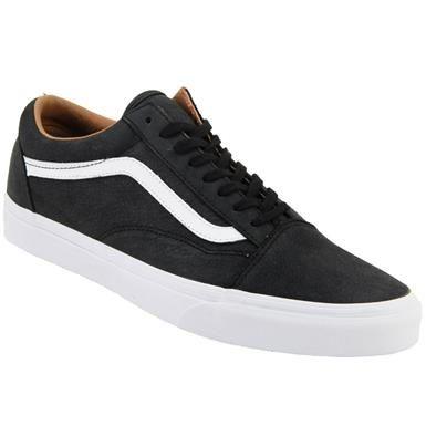 mens black leather vans shoes
