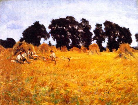 John Singer Sargent, Reapers Resting in a Wheat Fiels,1885 on ArtStack #john-singer-sargent #art