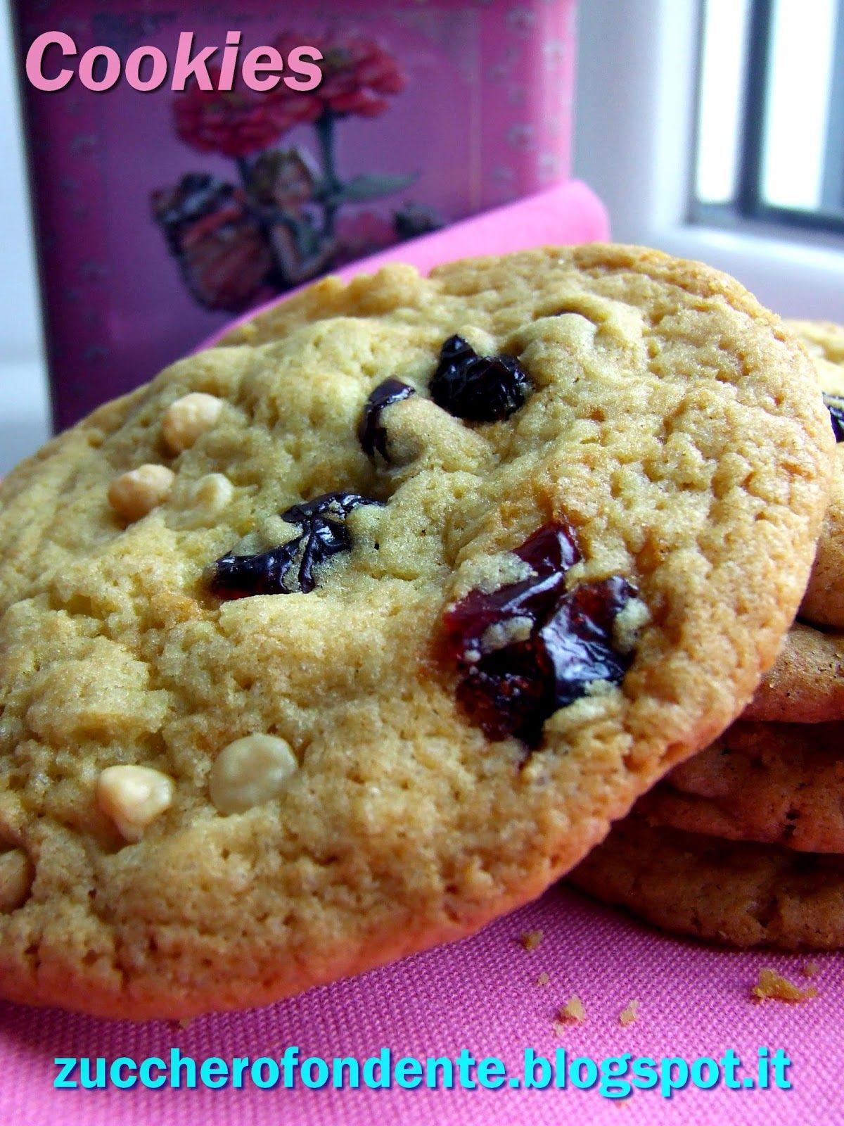 Ricetta Cookies Cioccolato Bianco E Mirtilli.Cookies Con Gocce Di Cioccolato Bianco E Mirtilli Rossi Cioccolato Bianco Gocce Di Cioccolato Cioccolato