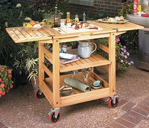 patio serving cart woodworking plans