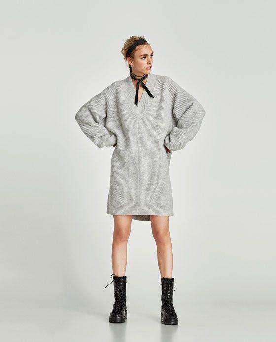 Zara oversize strickkleid