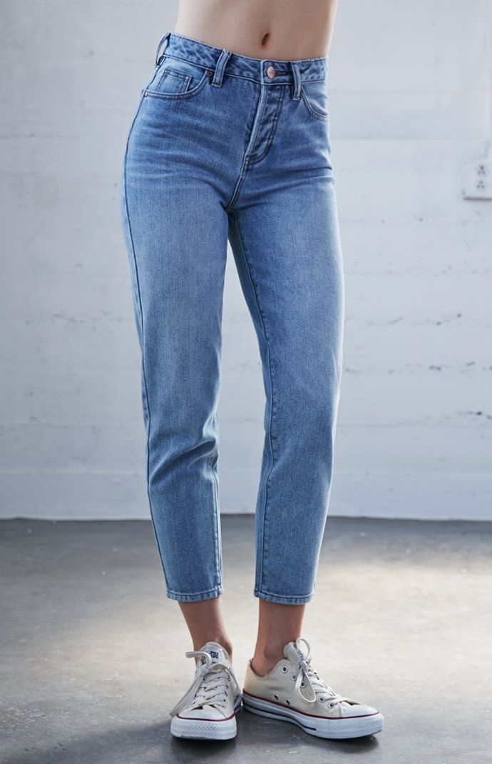 7d971ae39359 Paradise blue vintage high rise jeans bottoms i want pinterest jpg 690x1070  Vintage high waisted jeans