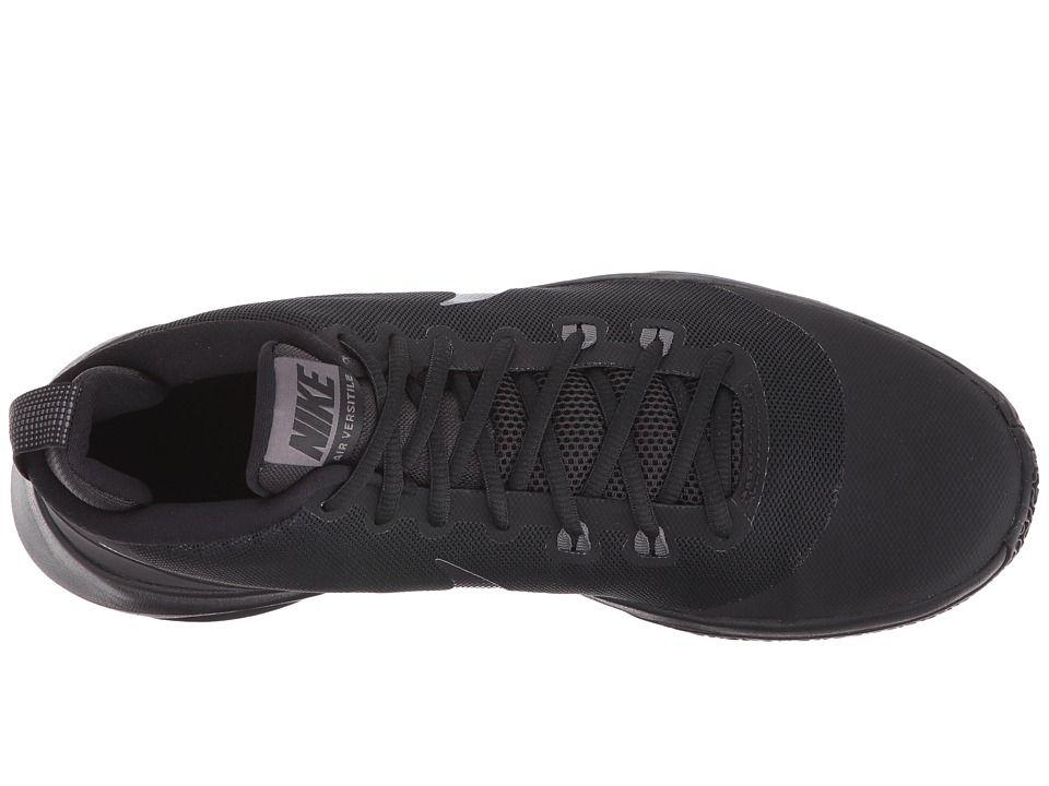 super popular 86088 a03d0 Nike Air Versatile Nubuck Men s Basketball Shoes Black Metallic Dark  Grey Dark Grey