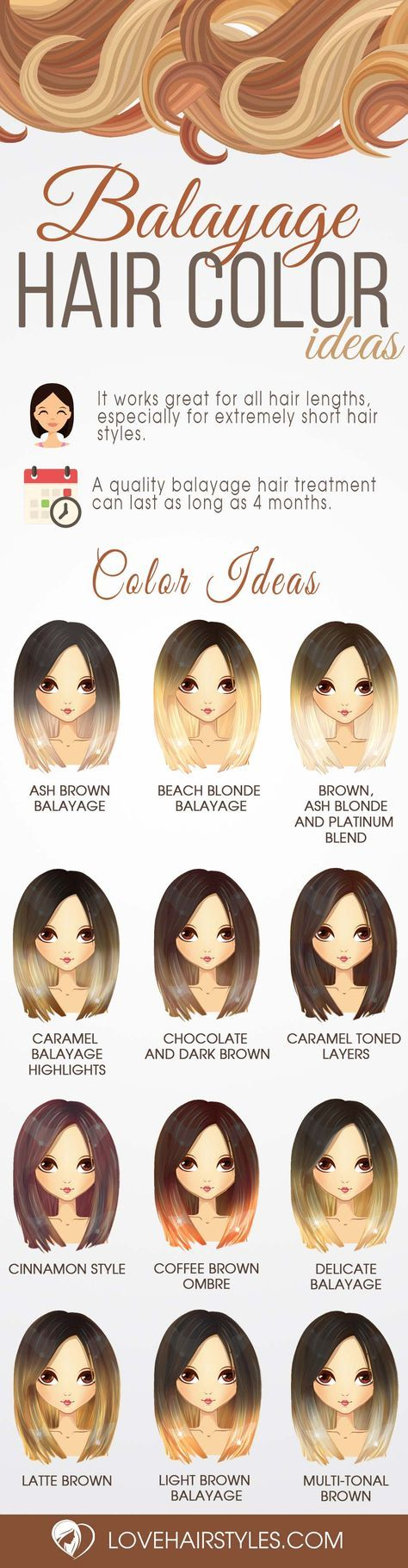 balayage hair ideas in brown to caramel tone balayage hair