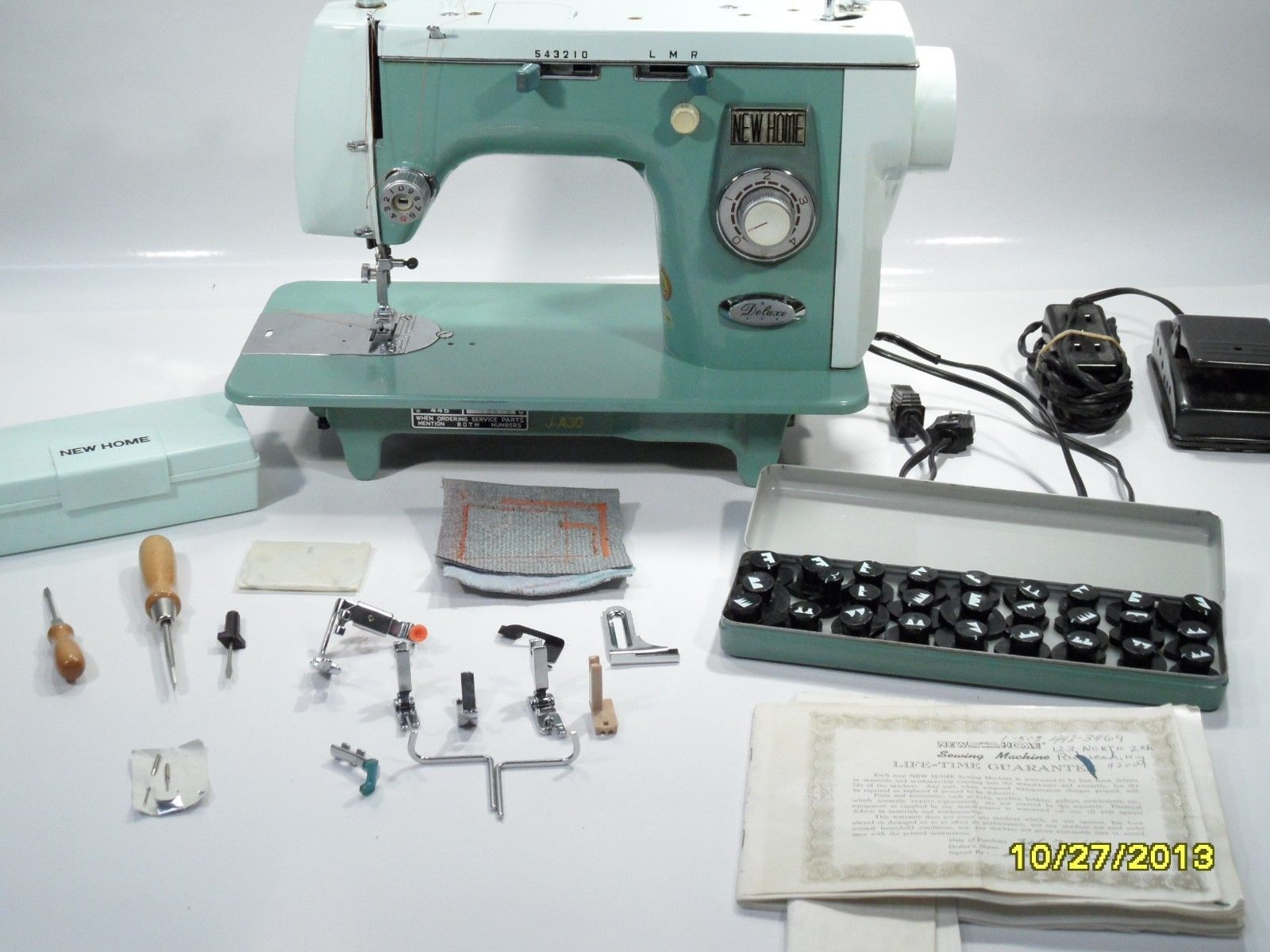 NEW Home Janome 445 Heavy Duty Sewing Machine With Attachments AND Cams  Sewing Studio, Vintage