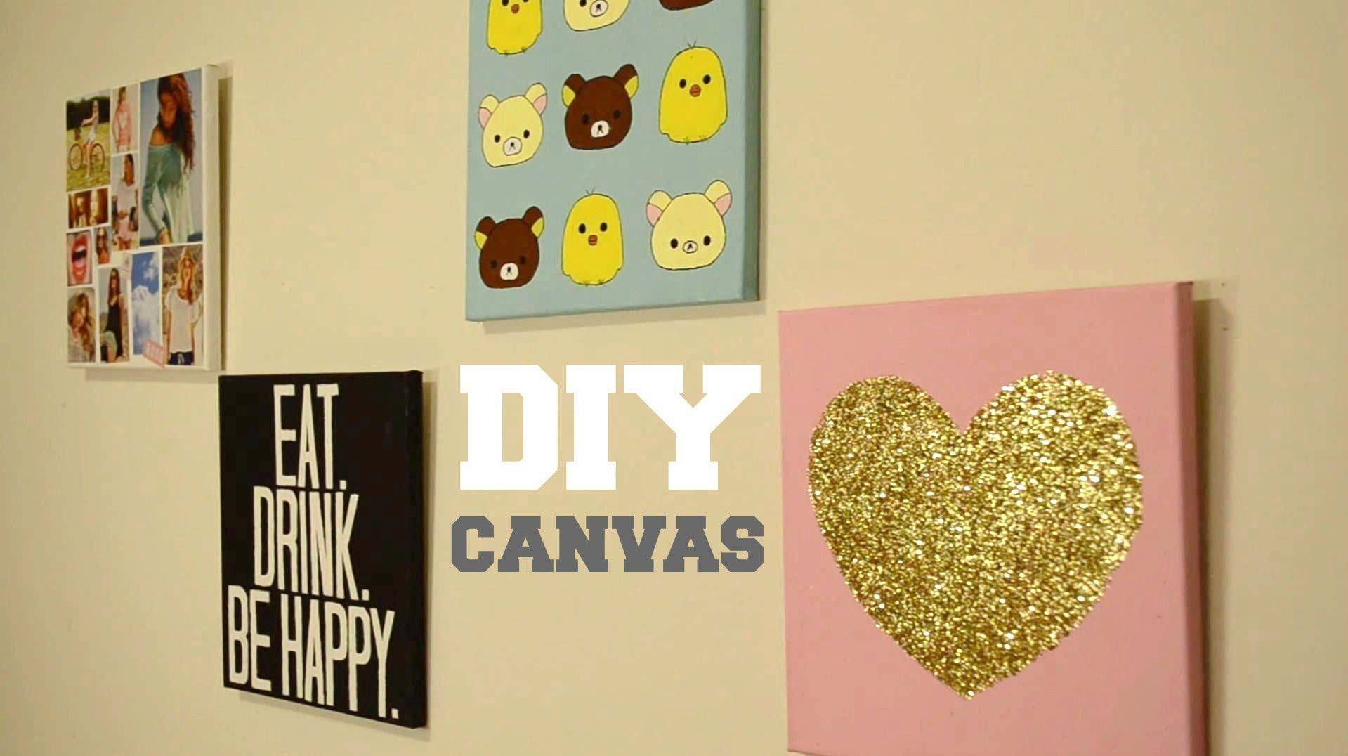 ✂ DIY Wall Decor: Custom Canvas | Room Decor ✗ | Pinterest | Diy ...