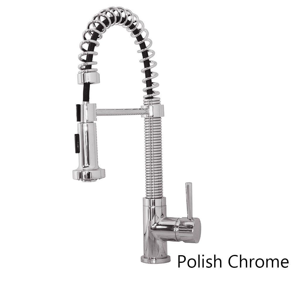Virtu usa arvia psk single handle kitchen faucet in brush