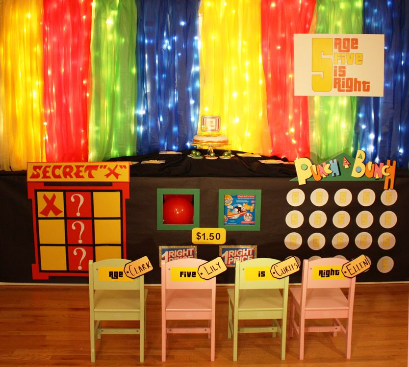 A birthday party for a 5 year old inspired by the Price is