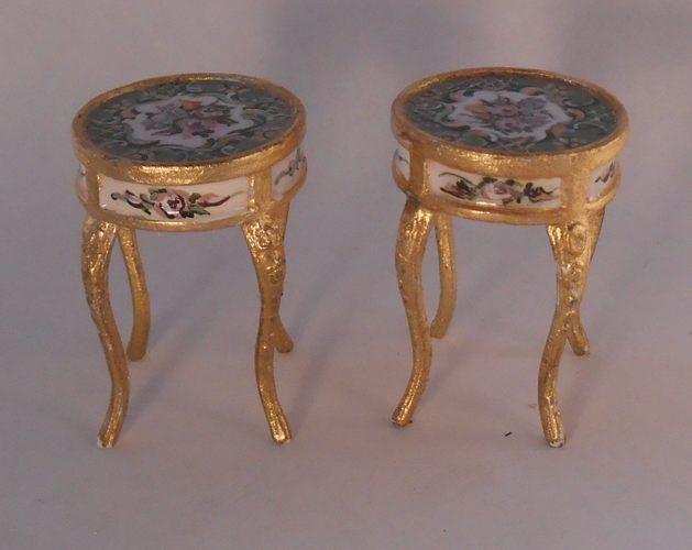Lovely Gold And Enamel Antique Side Tables Decoracion De