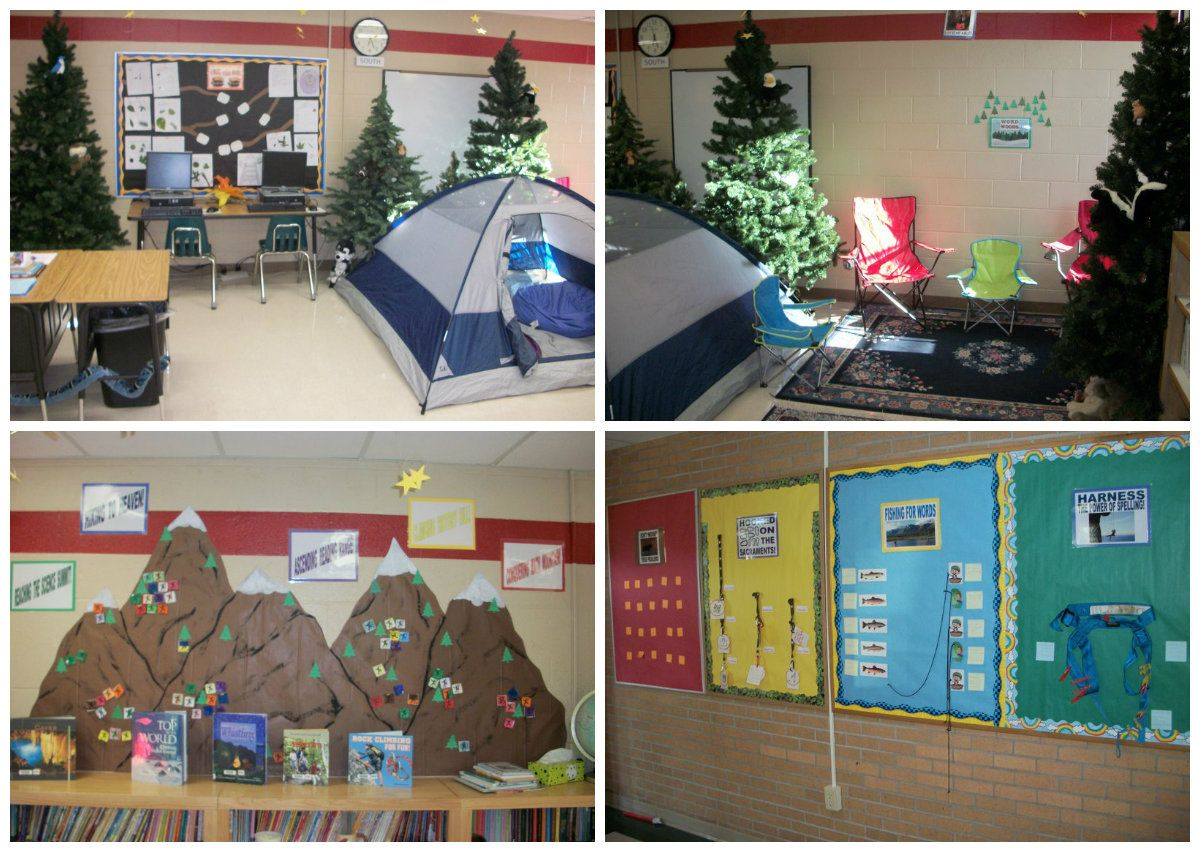 Camping Classroom Decoration : Classroom themes ideas google search camping themed classroom