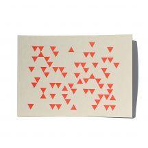 letterdance Dreiecke NEON, letterpress postcard