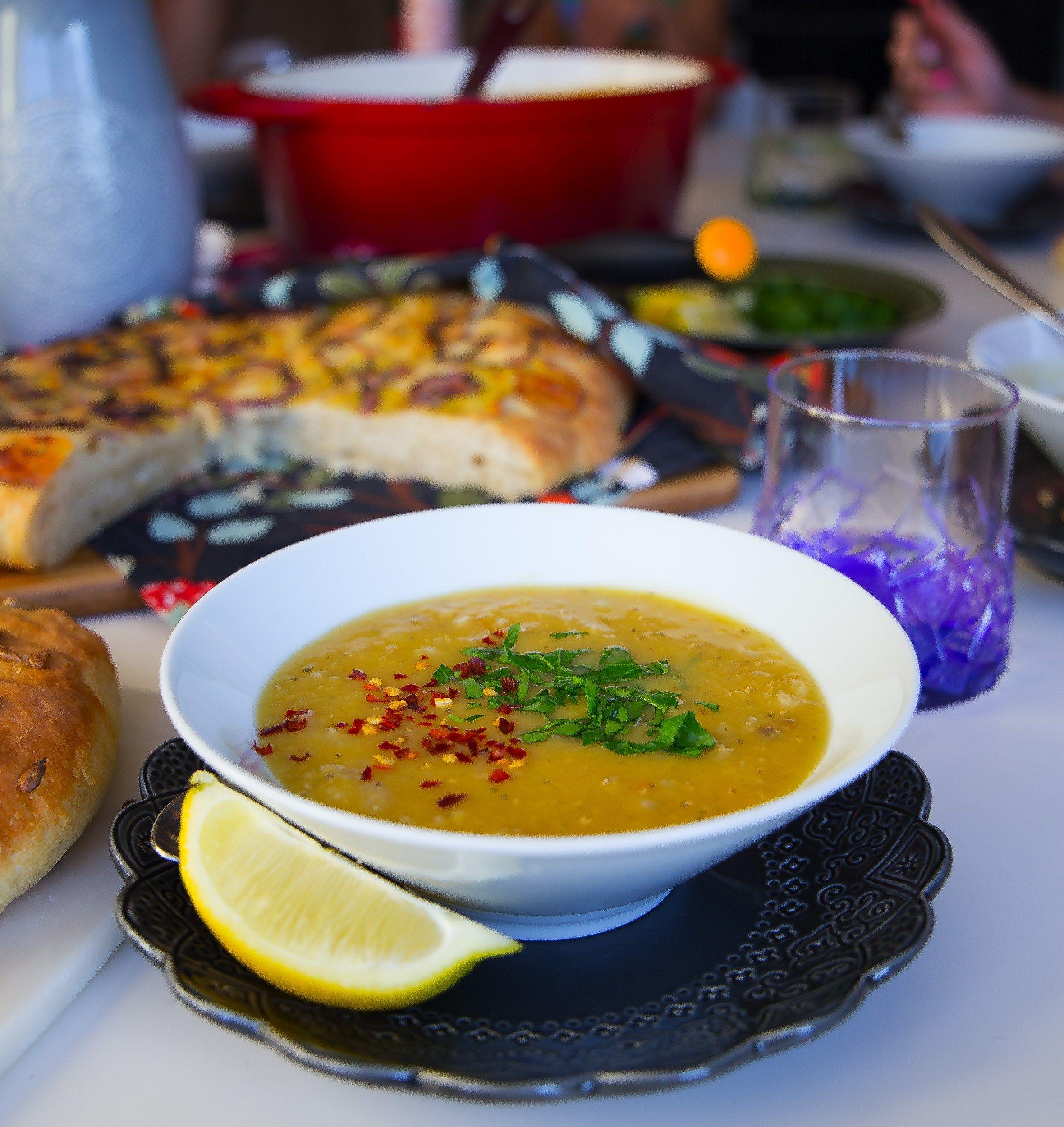libanesisk linssoppa röda linser