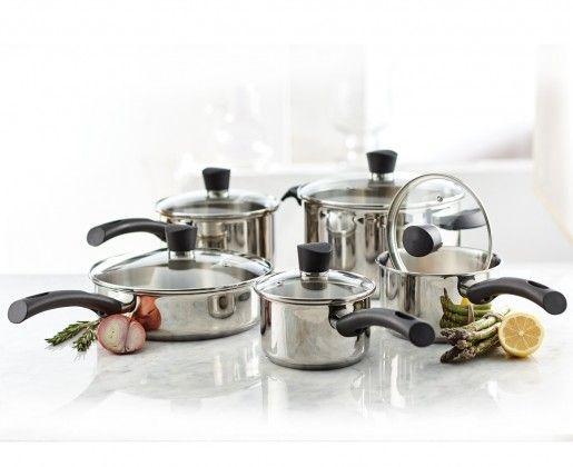 Haute Qualité 10Pc Aluminium Cookware Set casserole poêle ragoût Ustensile Cuisine Pan