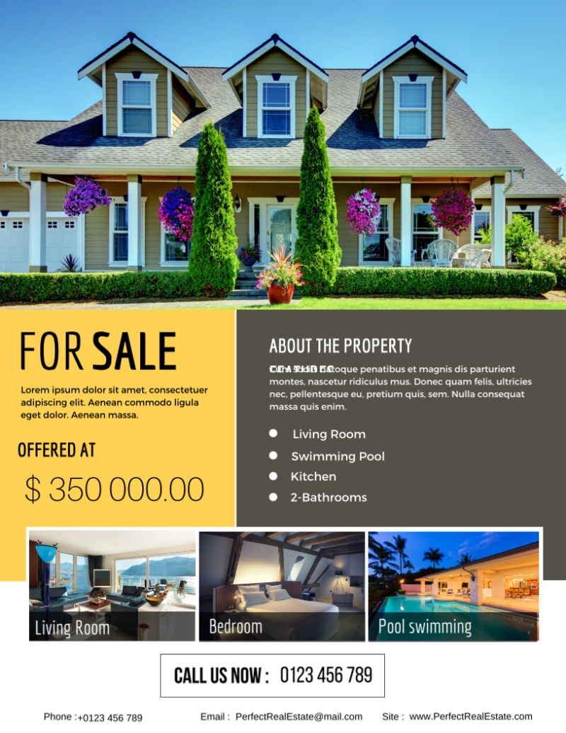the best real estate flyer for all realty companies