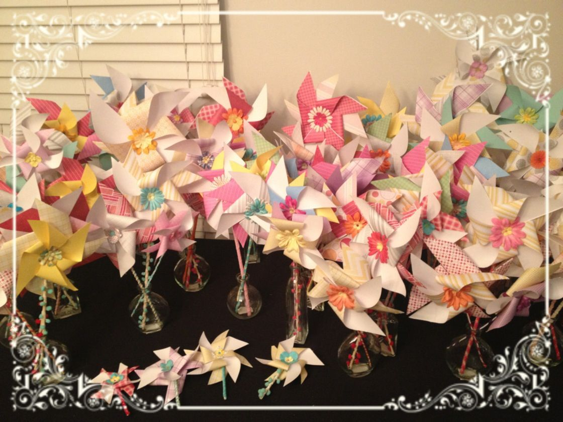 DIY Wedding pinwheels- I have LOVED making all these pinwheels and I could not have done it without all my amazing friends and family.