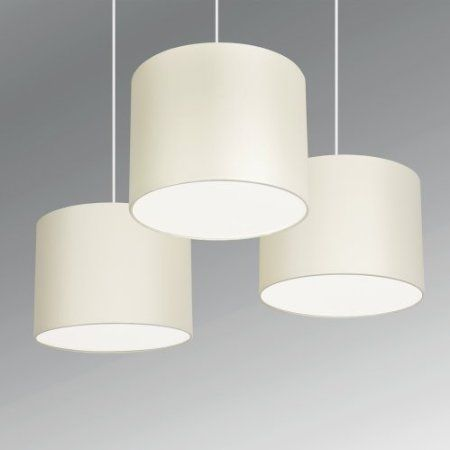 Set of 3 modern cream drum pendant ceiling light shades with diffusers amazon