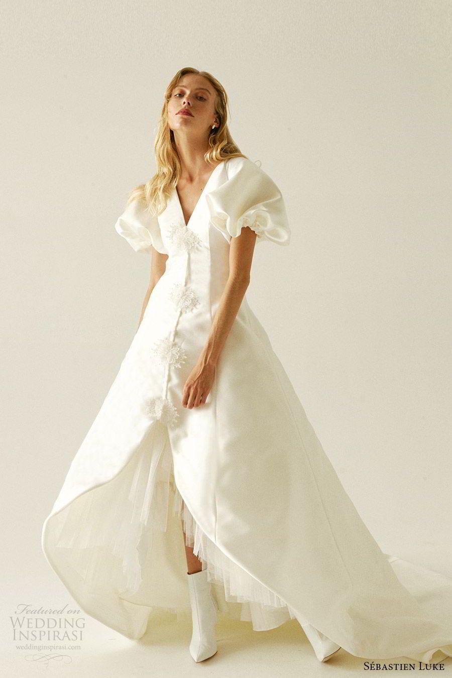 Sebastien Luke Fall 2019 Wedding Dresses Wedding Inspirasi Dresses Destination Wedding Dress A Line Wedding Dress [ 1350 x 900 Pixel ]