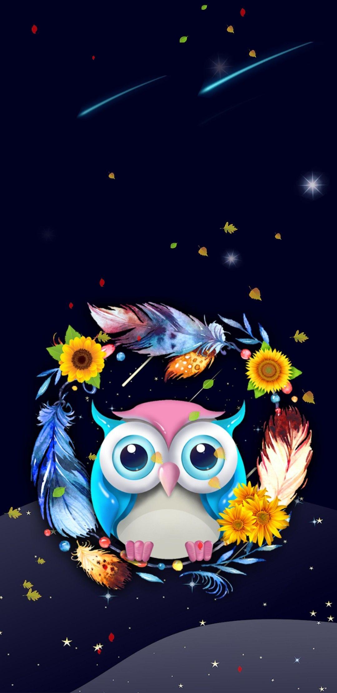 Wallpaper By Artist Unknown Cute Owls Wallpaper Owl Wallpaper Iphone Owl Wallpaper