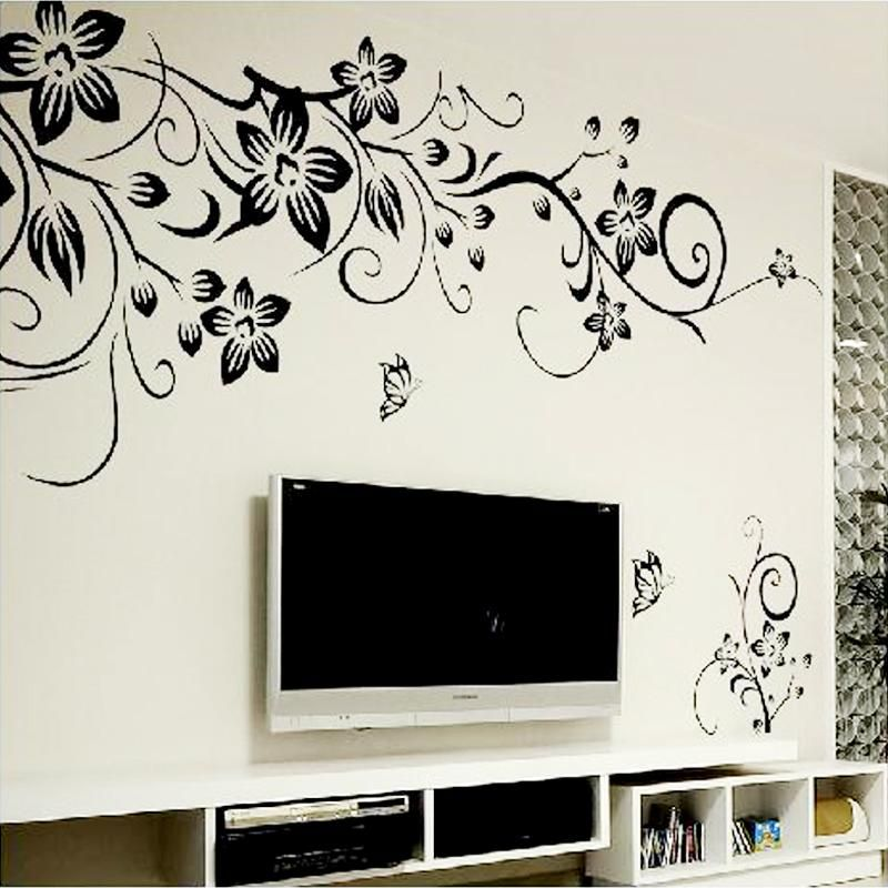 Hot Diy Wall Art Decal Decoration Fashion Romantic Flower Wall