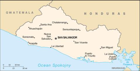 Mapa Salwadoru San Salvador Map El Salvador