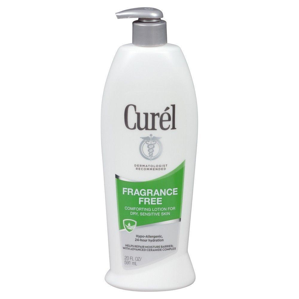 2 Pack - Curel Continuous Comfort Lotion Fragrance Free 20 oz Clinique - Sparkle Skin Body Exfoliating Cream -250ml/8.5oz