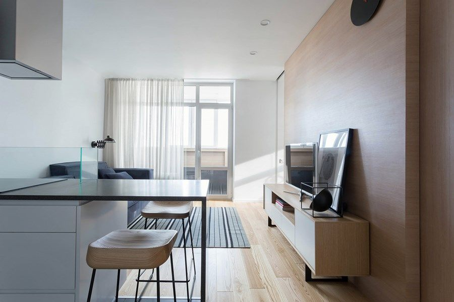Apartment with a deer by Lugerin Architects
