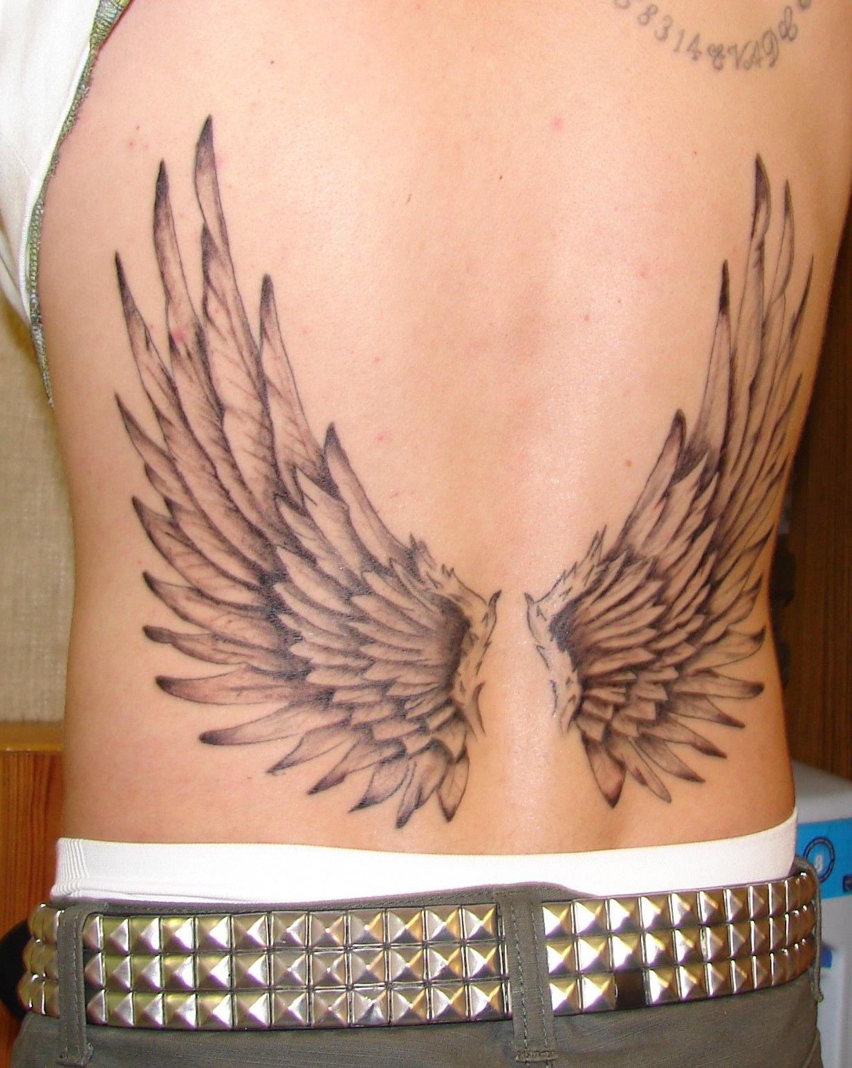 Lower back tattoo ideas for men angel wing tattoos  angel wings tattoo on lower back  email off