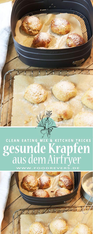 Gesunde Krapfen aus dem Airfryer - zuckerfrei Clean Eating